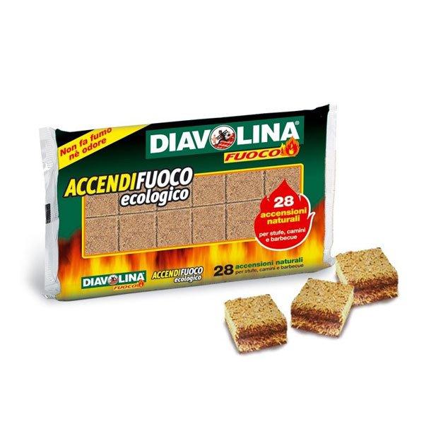 DIAVOLINA ACCENDIFUOCO ECOLOGICO 28 ACCENSIONI