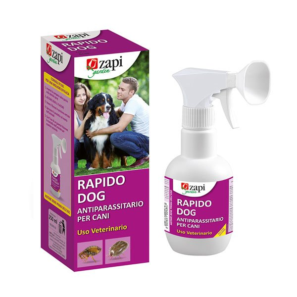 Antiparassitario per cani Rapido dog 250ml